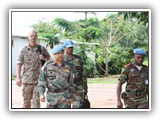 1LT ALI OROU S. Abdel-Aziz, performing the duty of Conducting Officer and Interpreter/Translator of the MONUSCO Force Commander at Kalémie in November 2011.