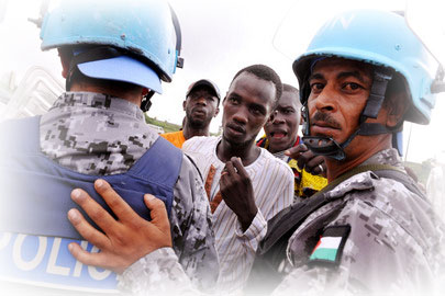 Photo of UN peacekeepers (police).