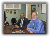 Gen Boroh with Dr. Harvey Langholtz in the POTI conference room