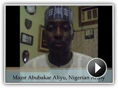 Video testimonial by Major Abubakar Aliyu, Nigerian Army.
