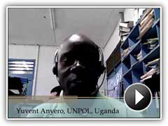 Video testimonial by Yuvent Anyero, UNPOL, Uganda.