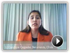 Video testimonial by Lt Carolina Céspedes Benavente, Chile.
