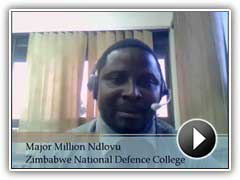 Témoignage vidéo du Major Million Ndlovu, Zimbabwe College Nationale de la Défense.