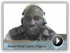 Video testimonial by Major Preye Zipele, Nigeria