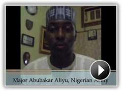 Major Abubakar Aliyu, Nigerian Army, provides a student testimonial about POTI's training.